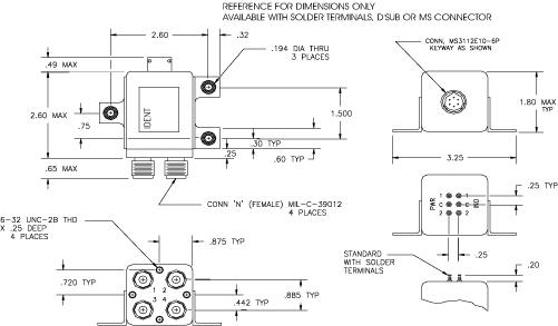 DPDT RF Switch